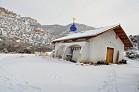 Church in the wintertime